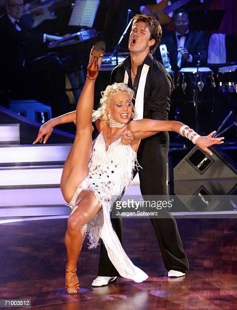 Actor Wayne Carpendale and dancer Isabel Edvardsson perform at the dancing competition show 'Let's Dance' on TV station RTL with German celebrities...