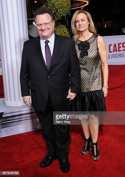 Actor Wayne Knight and Clare De Chenu attend the Premiere of Universal Pictures' 'Hail Caesar' at the Regency Village Theatre on February 1 2015 in...