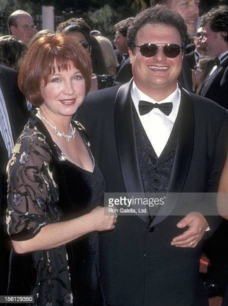Actor Wayne Knight and wife Paula Sutor attend the 50th Annual Primetime Emmy Awards on September 13 1998 at Shrine Auditorium in Los Angeles...