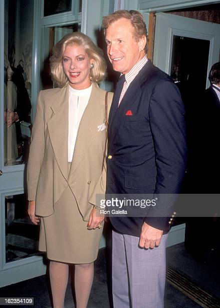 Actor Wayne Rogers and wife Amy Hirsh attend the Cocktail Party to Celebrate Reebok's Annual Celebrity Tennis Tournament on December 7 1989 at...