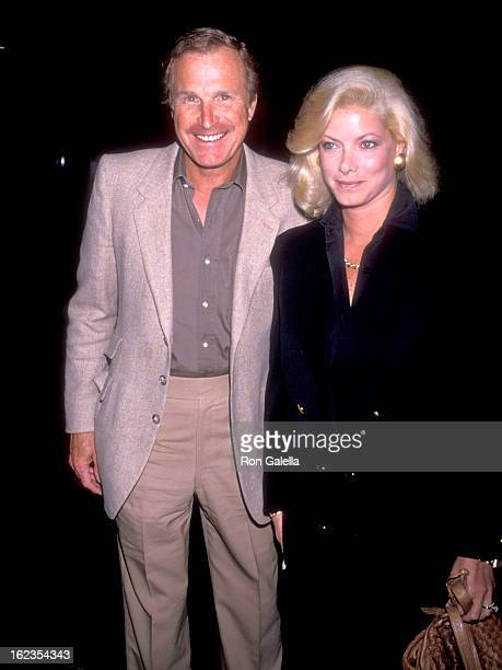 Actor Wayne Rogers and wife Amy Hirsh attends the Screening of the HBO Original Movie 'Perfect Witness' on October 10 1989 at DGA Theatre in West...