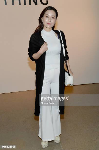 Actor Wen Yanxi attends the All Comes From Nothing x COOME FW18 show at Gallery II at Spring Studios on February 14 2018 in New York City