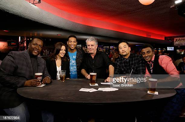 Actor Wendell Pierce Comedian Bonnie McFarlane CNN anchor Don Lemon TV personality Anthony Bourdain chefs Roy Choi and Marcus Samuelsson attend...