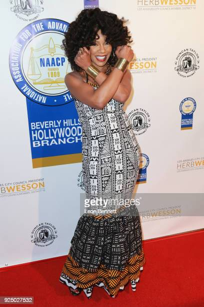 Actor Wendy Raquel Robinson attends the 27th Annual NAACP Theatre Awards at Millennium Biltmore Hotel on February 26 2018 in Los Angeles California