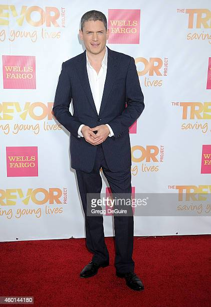 Actor Wentworth Miller arrives at TrevorLIVE Los Angeles at Hollywood Palladium on December 7 2014 in Los Angeles California