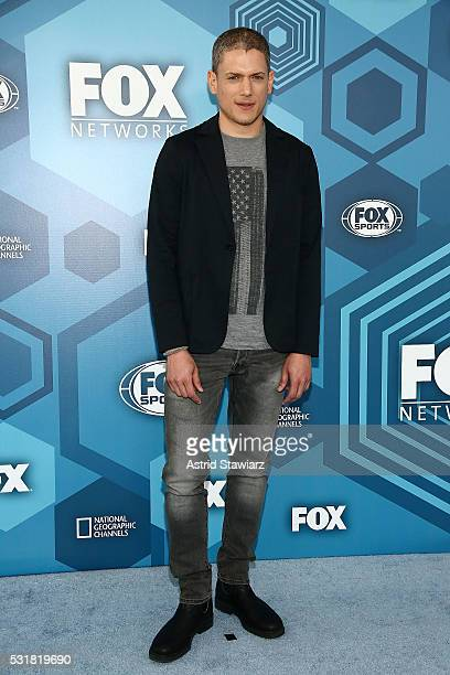 Actor Wentworth Miller attends FOX 2016 Upfront Arrivals at Wollman Rink Central Park on May 16 2016 in New York City