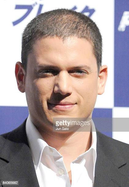 Actor Wentworth Miller attends the Prison Break press conference at Park Hyatt Tokyo on December 17 2008 in Tokyo Japan The new series of the TV...