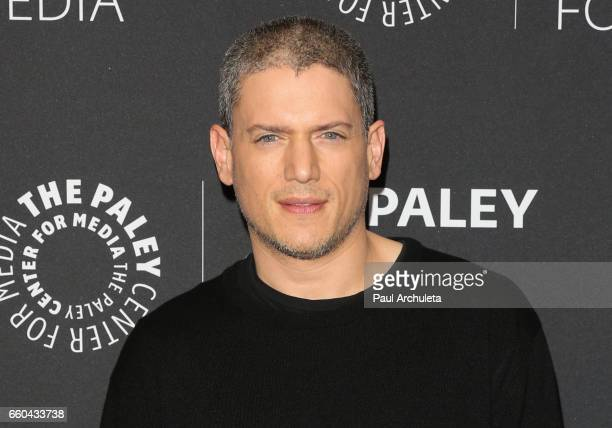 """Actor Wentworth Miller attends the """"Prison Break"""" screening and conversation at The Paley Center for Media on March 29, 2017 in Beverly Hills,..."""