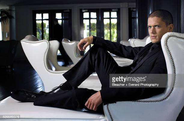 Actor Wentworth Miller is photographed for Prestige Magazine on October 16 2008 in Santa Monica California