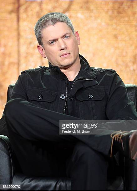Actor Wentworth Miller of the television show 'Prisonbreak' speaks onstage during the FOX portion of the 2017 Winter Television Critics Association...