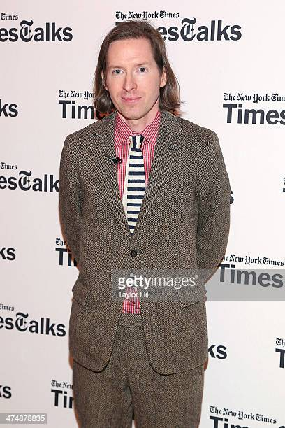 Actor Wes Anderson attends TimesTalk Presents An Evening With Wes Anderson And Ralph Fiennes at The Times Center on February 25 2014 in New York City