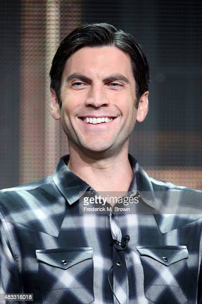 Actor Wes Bentley speaks onstage during the 'AHS Hotel' panel discussion at the FX portion of the 2015 Summer TCA Tour at The Beverly Hilton Hotel on...