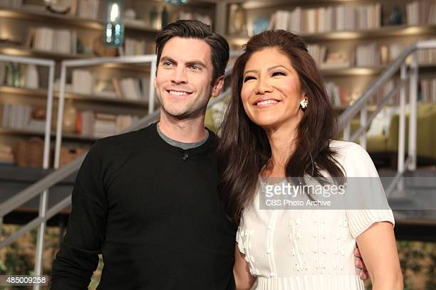 Actor Wes Bentley talks about his upcoming film with the ladies of 'The Talk' Friday August 14 2015 on the CBS Television Network From left Wes...