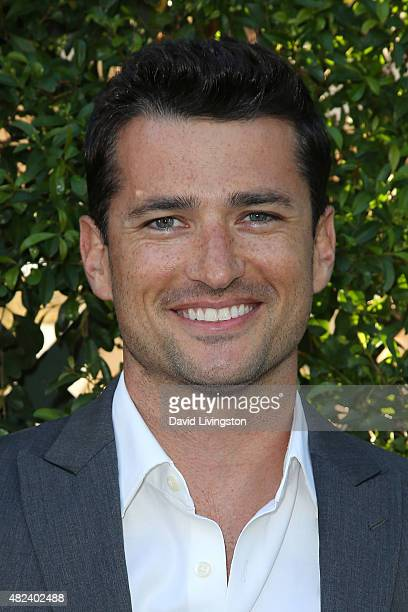Actor Wes Brown attends Hallmark Channel and Hallmark Movies and Mysteries at the 2015 Summer TCA Tour at a private residence on July 29 2015 in...