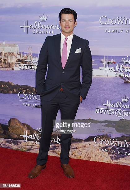 Actor Wes Brown attends the Hallmark Channel and Hallmark Movies and Mysteries Summer 2016 TCA press tour event at a private residence on July 27...