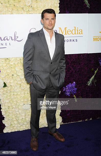 Actor Wes Brown attends the Summer TCA Tour Hallmark Channel and Hallmark Movies And Mysteries at a private residence on July 29 2015 in Beverly...