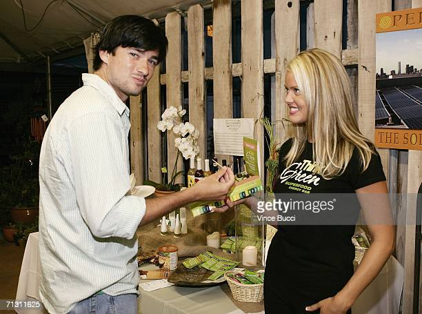 Actor Wes Brown samples a Think Green superfood bar at a cocktail reception for The Green Experience eco event on June 27 2006 at Trellis in Los...