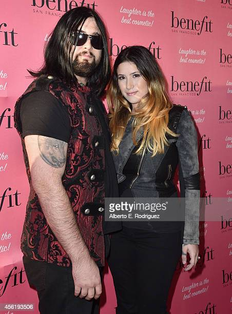 Actor Wes Cage and Danielle Cage attend Benefit Cosmetic's 1st Annual National Wing Women Weekend VIP Launch at Space 15 Twenty on September 26 2014...