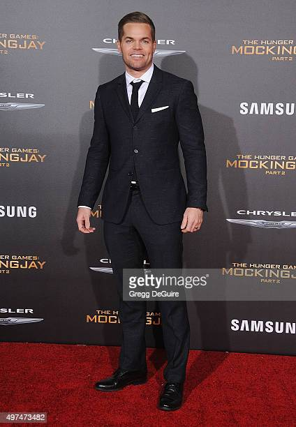 Actor Wes Chatham arrives at the premiere of Lionsgate's The Hunger Games Mockingjay Part 2 at Microsoft Theater on November 16 2015 in Los Angeles...