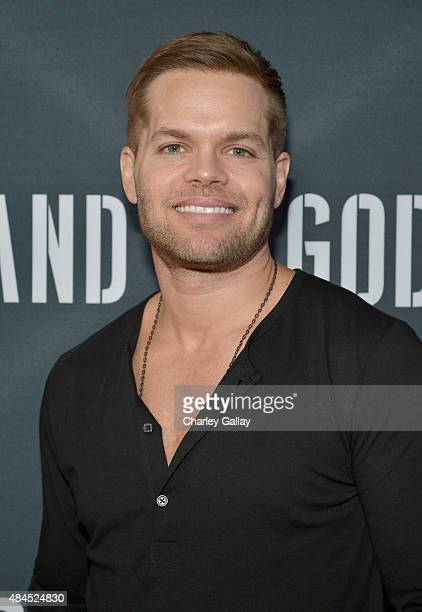Actor Wes Chatham attends the Amazon premiere screening for original drama series Hand Of God at The Theatre at Ace Hotel on August 19 2015 in Los...