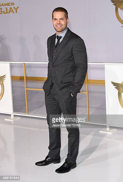 Actor Wes Chatham attends the Premiere of Lionsgate's The Hunger Games Mockingjay Part 1 at Nokia Theatre LA Live on November 17 2014 in Los Angeles...