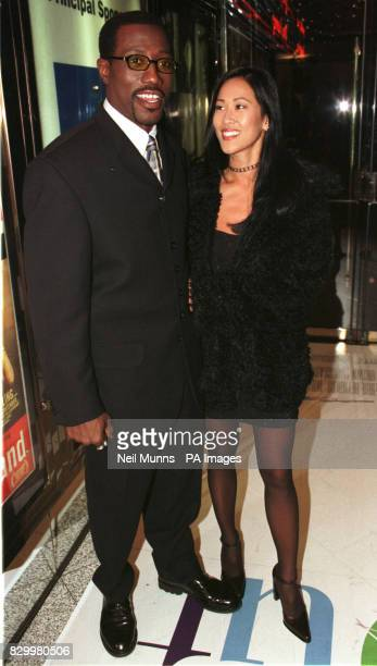 Actor Wesley Snipes and actress Donna Wong costars of the film One Night Stand