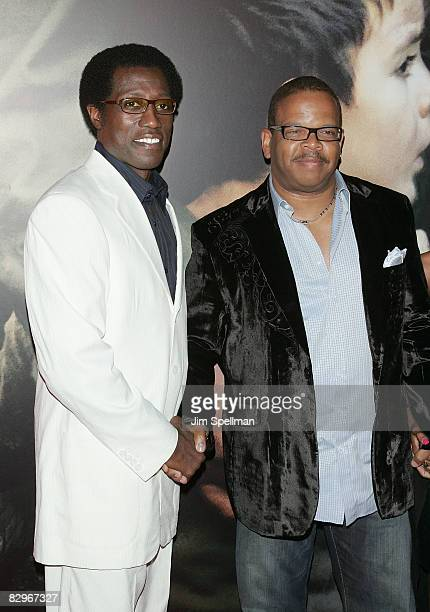 Actor Wesley Snipes and Terence Blanchard attends the premiere of Miracle at St Anna at Ziegfeld Theatre on September 22 2008 in New York City