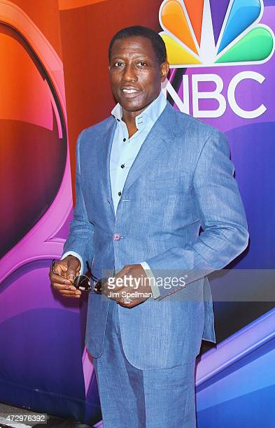 Actor Wesley Snipes attends the 2015 NBC upfront presentation red carpet event at Radio City Music Hall on May 11 2015 in New York City