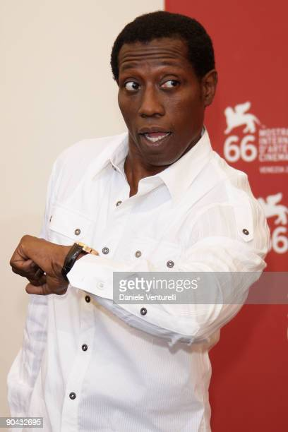 "Actor Wesley Snipes attends the ""Brooklyn's Finest"" Photocall at the Palazzo del Casino during the 66th Venice Film Festival on September 8, 2009 in..."