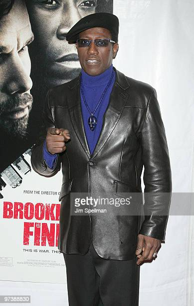 Actor Wesley Snipes attends the premiere of Brooklyn's Finest at AMC Loews Lincoln Square 13 theater on March 2 2010 in New York City
