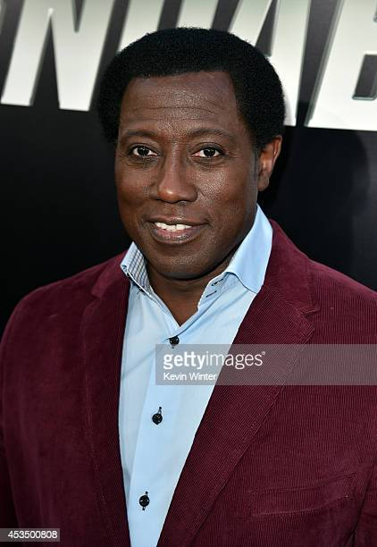 Actor Wesley Snipes attends the premiere of Lionsgate Films' The Expendables 3 at TCL Chinese Theatre on August 11 2014 in Hollywood California