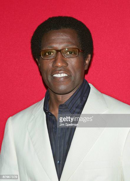 Actor Wesley Snipes attends the premiere of Miracle at St Anna at Ziegfeld Theatre on September 22 2008 in New York City