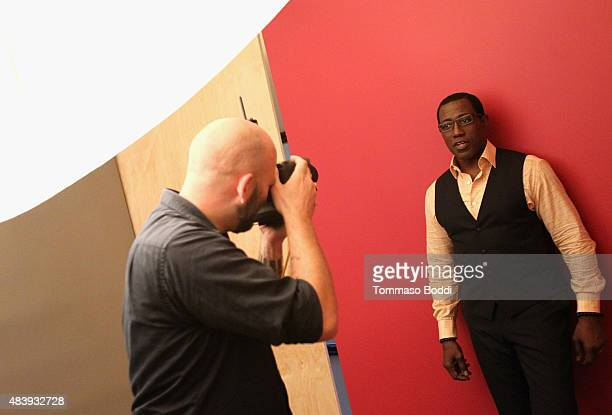 Actor Wesley Snipes of NBC's 'The Player' attends Behind The Scenes Of The Getty Images Portrait Studio Powered By Samsung Galaxy At 2015 Summer...