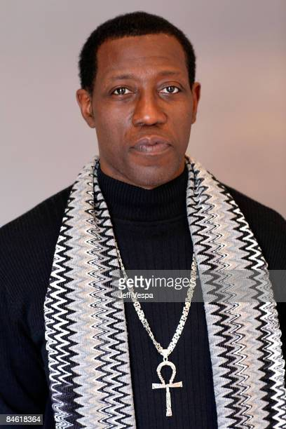 Actor Wesley Snipes poses for a portrait during the 2009 Sundance Film Festival held at the Film Lounge Media Center on January 17 2009 in Park City...