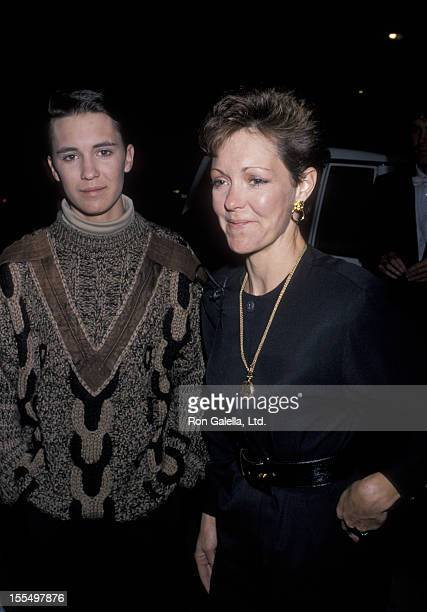 Actor Wil Wheaton and mother Debbie Wheaton attending Virgin Records Party on February 23, 1990 at Pazzia Restaurant in Los Angeles, California.