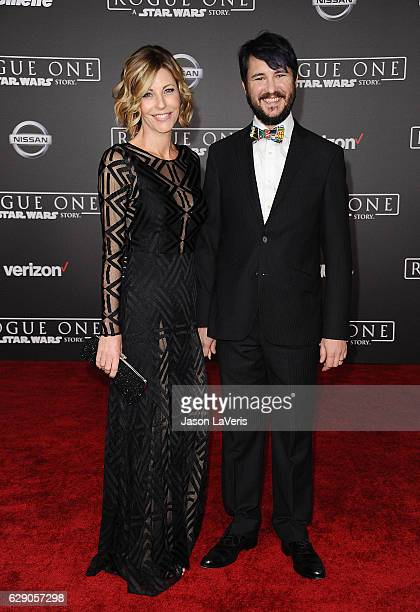 Actor Wil Wheaton and wife Anne Wheaton attend the premiere of Rogue One A Star Wars Story at the Pantages Theatre on December 10 2016 in Hollywood...