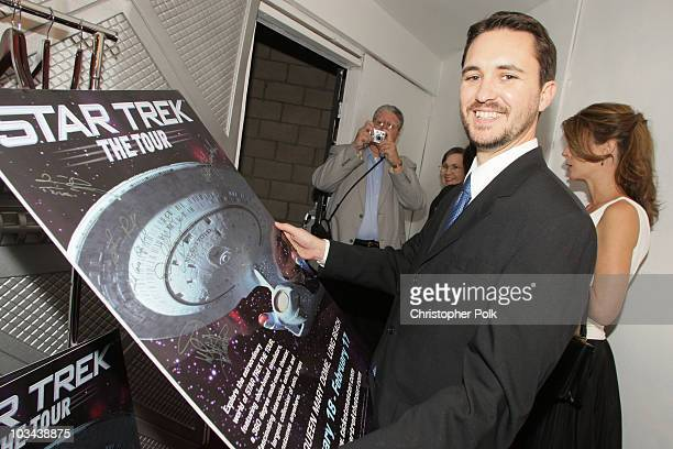 Actor Wil Wheaton attends the Star Trek The Tour North American Debut held at the Queen Mary Dome on January 17 2008 in Long Beach California