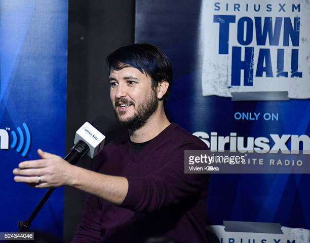 Actor Wil Wheaton speaks during SiriusXM's 'Town Hall' at Nerdmelt Showroom on April 25 2016 in Los Angeles California