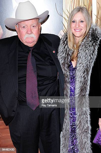 Actor Wilford Brimley and guest attend the Did You Hear About the Morgans New York premiere at Ziegfeld Theatre on December 14 2009 in New York City