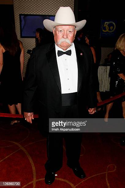 Actor Wilford Brimley attends the 50th Anniversary Stuntmens Gala Honoring Harrison Ford on September 24 2011 in Universal City California
