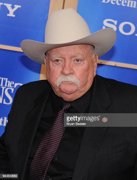 Actor Wilford Brimley attends the premiere of Did You Hear About the Morgans at Ziegfeld Theatre on December 14 2009 in New York City