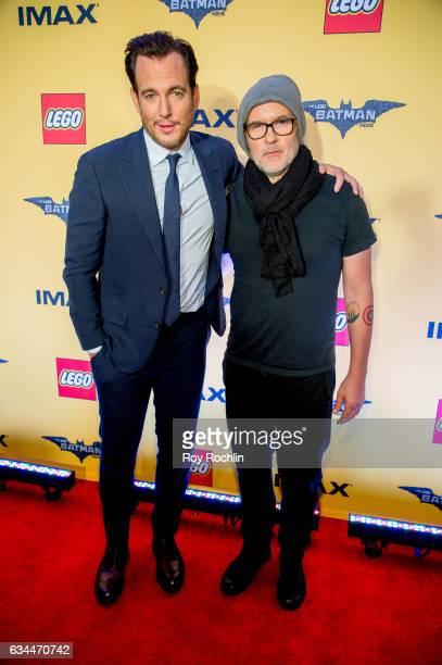 Actor Will Arnett and director Chris McKay attend 'The Lego Batman Movie' New York Screening at AMC Loews Lincoln Square 13 on February 9 2017 in New...