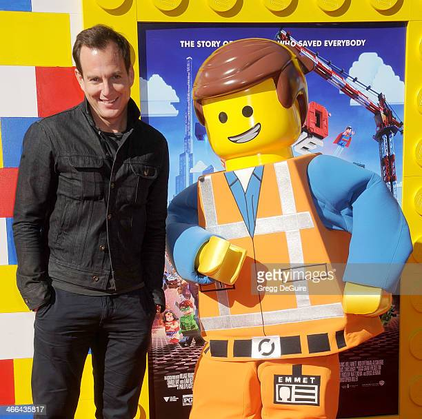 Actor Will Arnett arrives at the Los Angeles premiere of 'The Lego Movie' at Regency Village Theatre on February 1 2014 in Westwood California