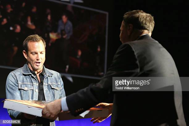 Actor Will Arnett orders pizza during the CinemaCon 2016 Gala Opening Night Event: Paramount Pictures Highlights its 2016 Summer and Beyond Films at...
