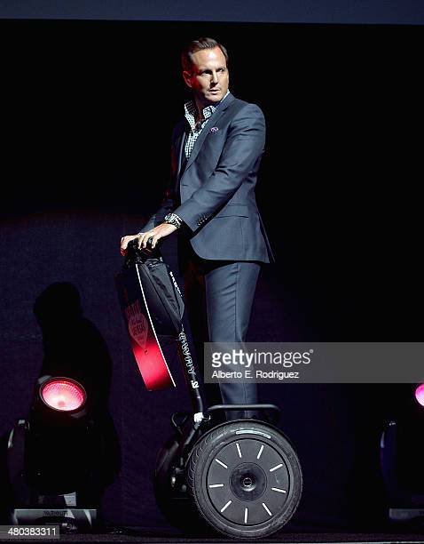 Actor Will Arnett speaks onstage during CinemaCon 2014 Off and Running Opening Night Studio Presentation from Paramount Pictures at Caesars Palace...