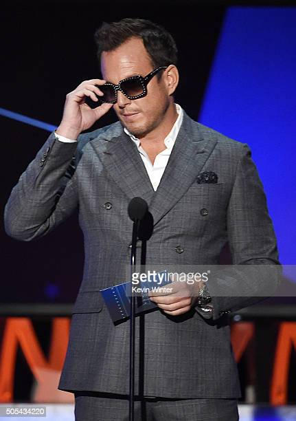 Actor Will Arnett speaks onstage during the 21st Annual Critics' Choice Awards at Barker Hangar on January 17 2016 in Santa Monica California