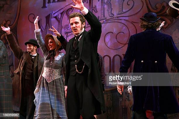 Actor Will Chase come out for a curtain call during the 'The Mystery Of Edwin Drood' Broadway Opening Night at Roundabout Theatre Company's Studio 54...