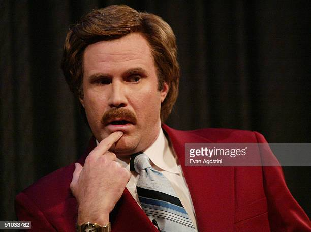 """Actor Will Ferrell aka Ron Burgundy participates in Q&A after a special screening of the film """"Anchorman: The Legend of Ron Burgundy"""" at the Museum..."""