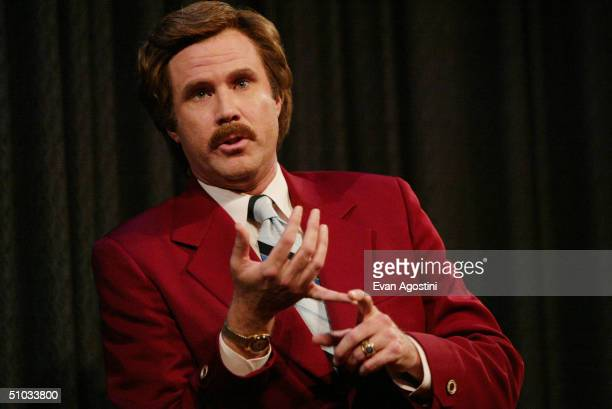 Actor Will Ferrell aka Ron Burgundy participates in QA after a special screening of the film Anchorman The Legend of Ron Burgundy at the Museum of...