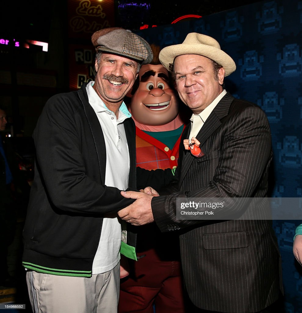 Actor Will Ferrell and actor John C. Reilly Premiere Of Walt Disney Animation Studios' 'Wreck-It Ralph' - Red Carpet at the El Capitan Theatre on October 29, 2012 in Hollywood, California.